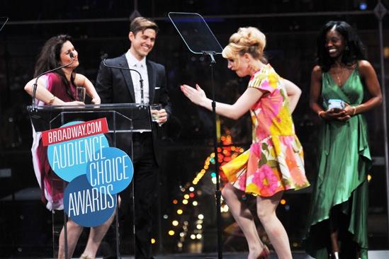2013 Audience Choice Awards Ceremony — Stephanie J. Block — Aaron Tveit — Annaleigh Ashford
