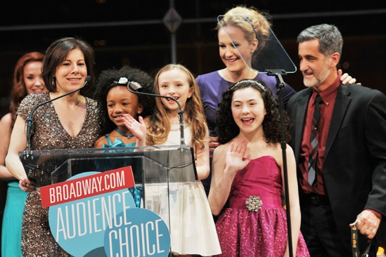 2013 Audience Choice Awards Ceremony — Arielle Tepper Madover — Tyrah Skye Odoms — Emily Rosenfeld —Katie Finneran — Lilla Crawford — Bill Berloni