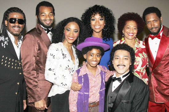 Brandy at 'Motown' — Ryan Shaw — Brandon Victor Dixon — Valisia LeKae — Raymond Luke Jr — Brandy — Terry McMillan — Charl Brown — Bryan Terrell Clark