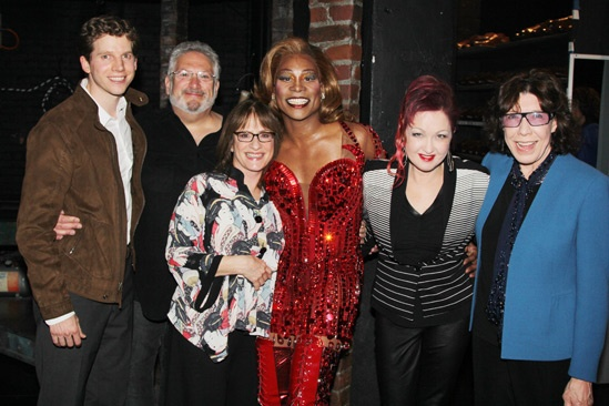 Celebs at Kinky Boots — Stark Sands — Harvey Fierstein — Patti LuPone — Billy Porter — Cyndi Lauper — Lily Tomlin