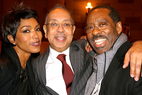 Courtney B. Vance Backstage at 'Lucky Guy' — Angela Bassett — George C. Wolfe — Courtney B. Vance