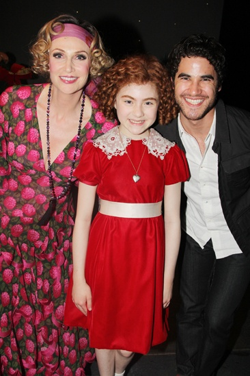 Annie Jane Lynch Opening- Jane Lynch- Lilla Crawford- Darren Criss