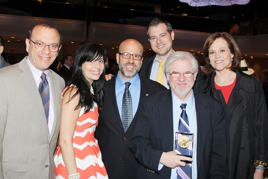 2013 Drama League Awards Luncheon — Joey Parnes — Susan Wagner — Larry Hirschhorn — John Johnson — Christopher Durang — Sigourney Weaver