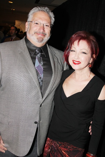 2013 Drama League Awards Luncheon — Harvey Fierstein — Cyndi Lauper
