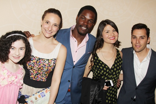 2013 Drama League Awards Luncheon — Lilla Crawford — Tracee Chimo — Stephen Tyrone Williams — Phillipa Soo — Ryan Silverman