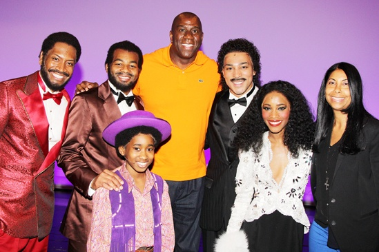 Magic Johnson at Motown — Bryan Terrell Clark — Brandon Victor Dixon — Raymond Luke Jr — Magic Johnson — Charl Brown — Valisia LeKae — Cookie Johnson