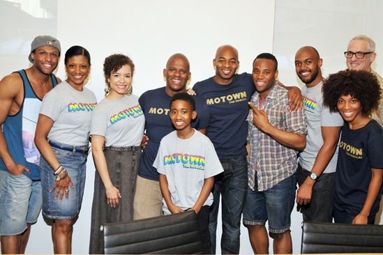 'Motown' at SoHo Apple Store — Jarran Muse — Marva Hicks — Sasha Hutchings — Ryan Shaw — Raymond Luke Jr — Brandon Victor Dixon — Maurice Murphy — Valisia LeKae — John Jellison