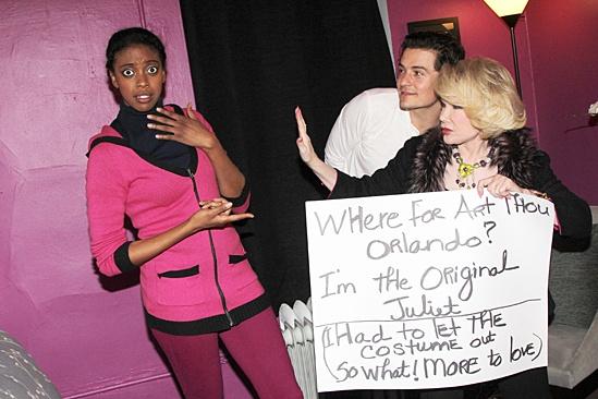 Celebs at Romeo and Juliet - Condola Rashad - Orlando Bloom - Joan Rivers