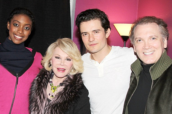 Celebs at Romeo and Juliet - Condola Rashad - Joan Rivers - Orlando Bloom - Charles Busch