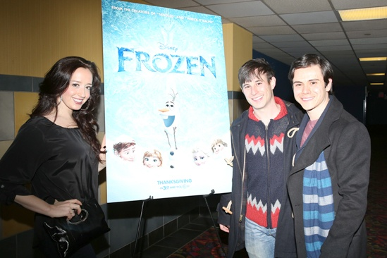 Frozen – Newsies Screening – Friend Lauren – Friend Nimmy – Tommy Martinez
