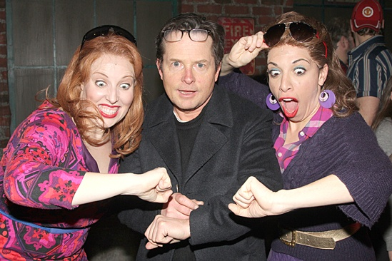 Michael J. Fox Visits Kinky Boots – Tory Ross – Michael J. Fox – Ellyn Marie Marsh