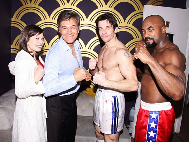 Rocky - Backstage - Dr. Oz - OP - 4/14 - Margo Seibert - Andy Karl - Terence Archie - Dr. Mehmet Oz
