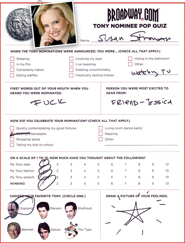 Tony Nominee Pop Quiz - Susan Stroman