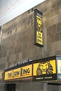 Lion King Moves to the Minskoff - Exterior