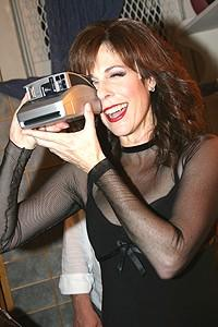 Liza Greets Rita Wilson at Chicago - Rita Wilson (with camera)