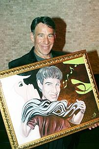 Photo Op - Stephen Schwartz Portrait at Tony&#39;s DiNapoli - Stephen Schwartz (with portrait)