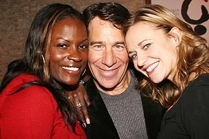 Photo Op - Stephen Schwartz Portrait at Tony's DiNapoli - Brandi Chavonne Massey - Stephen Schwartz - Megan Sikora
