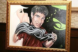 Photo Op - Stephen Schwartz Portrait at Tony's DiNapoli - Wicked portrait