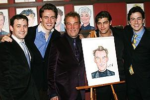 Photo Op - Des McAnuff at Sardis - Michael Ingersoll - Erich Bergen - Des McAnuff - Deven May - Christopher Kale Jones
