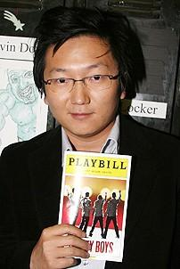 Photo Op - Masi Oka at Jersey Boys - Masi Oka (with playbill)