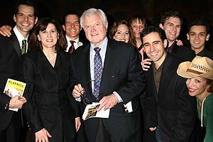 Photo Op - Ted Kennedy at Jersey Boys - Ted Kennedy - (wife) Victoria Reggie Kennedy - full cast