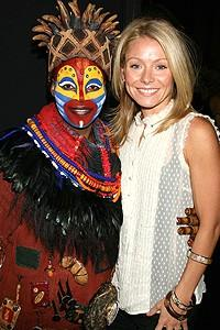 Photo Op - Kelly Ripa at Lion King - Kelly Ripa - Tshidi Manye