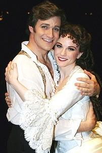 Photo Op - Phantom 8,000th Performance - Michael Shawn Lewis - Jennifer Hope Wills