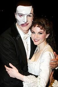 Photo Op - Phantom 8,000th Performance - Howard McGillin - Jennifer Hope Wills