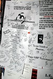 Photo Op - Phantom 8,000th Performance - callboard
