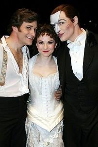 Photo Op - Phantom 8,000th Performance - Michael Shawn Lewis - Jennifer Hope Wills - Howard McGillin