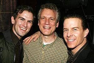 Photo Op - Jersey Boys does Actors' Fund benefit 2007 -  Daniel Reichard - Rick Elice - Christian Hoff