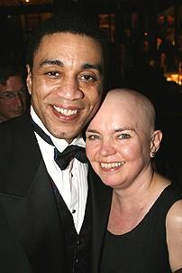 Photo Op - Radio Golf opening - Harry Lennix - Susan Hilferty