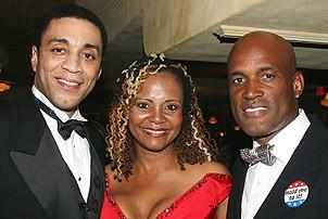 Photo Op - Radio Golf opening - Harry Lennix - Tonya Pinkins - Kenny Leon 1