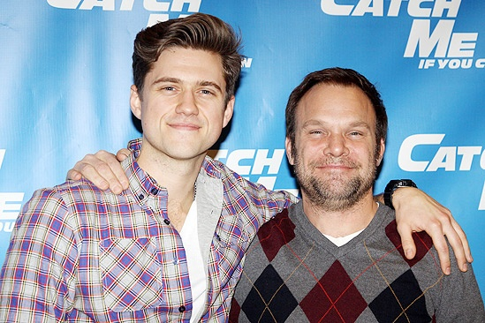 Catch Me If You Can First Rehearsal  Aaron Tveit  Norbert Leo Butz