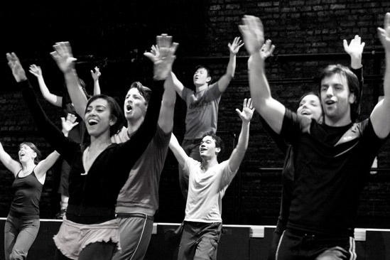 Anything Goes in Rehearsal – ensemble