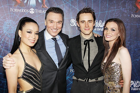 Spider-Man opening  T.V. Carpio  Patrick Page  Reeve Carney  Jennifer Damiano