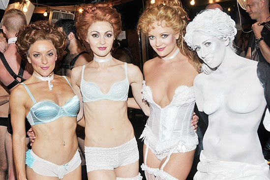 Broadway Bares '11 - Jessica Green -  Sara Antkowiak-Maier - Ashley Arcement - Amy Brewer