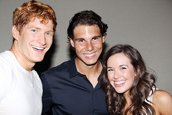 Novak Djokovic and Rafael Nadal at Mamma Mia – Jordan Dean – Rafael Nadal – Liana Hunt