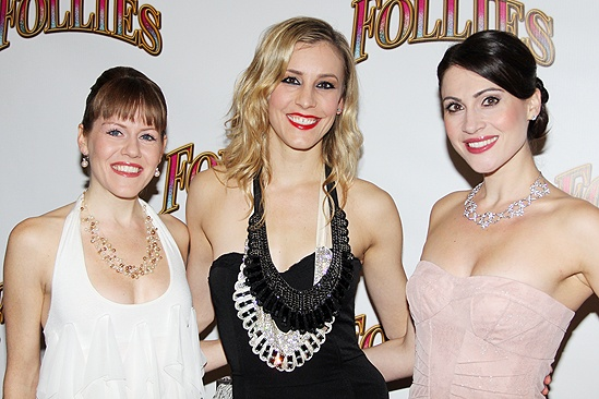 &lt;i&gt;Follies&lt;/i&gt; opening night  Danielle Jordan  Brittany Marcin  Suzanne Hyklenski Danielle Jordan, Brittany Marcin and Suzanne Hyklenski