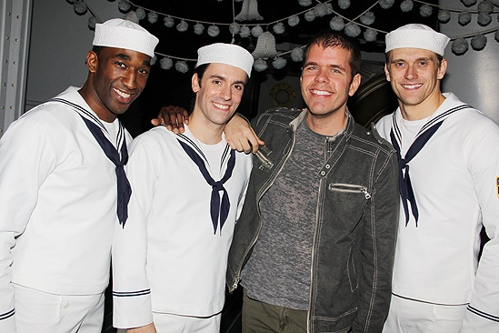 Perez Hilton at <i>Anything Goes</i> - Anthony Wayne – Clyde Alves – Perez Hilton – Adam Perry