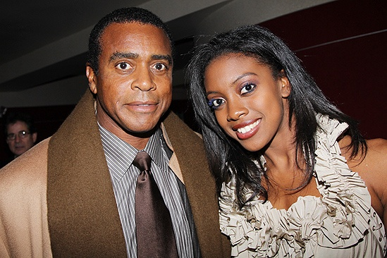 Photo of Condola Rashad & her Father  Ahmad Rashād