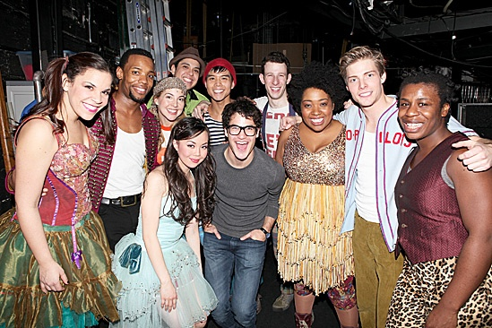 Darren Criss & Justin Kirk Backstage at Godspell – Godspell Cast – Darren Criss