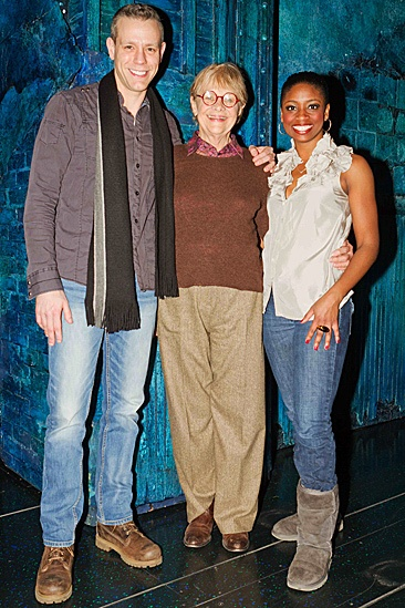 Estelle Parsons Backstage at Memphis Adam Pascal - Estelle Parson – Montego Glover