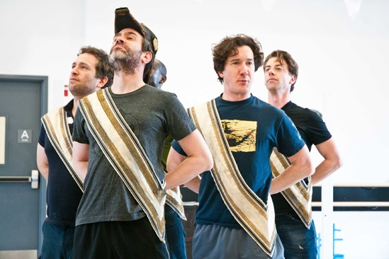 Peter and the Starcatcher Rehearsal – David Rossmer – Kevin Del Aguila – Carson Eldrod – Christian Borle