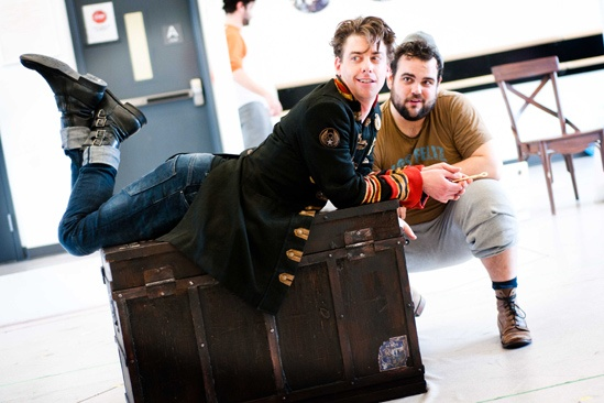 Peter and the Starcatcher Rehearsal – Christian Borle – Greg Hildreth