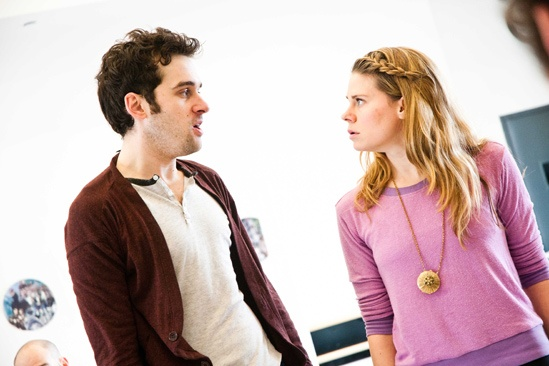 Peter and the Starcatcher Rehearsal  Adam Chanler-Berat  Celia Keenan-Bolger