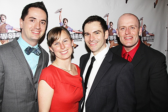Newsies – Opening Night – Timothy Eaker – Becky Fleming – Eduardo Castro – Thomas Gates