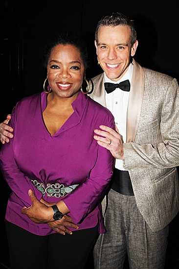 Oprah Visits Memphis  Oprah Winfrey - Adam Pascal  