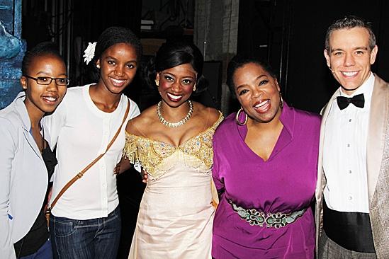 Oprah Visits Memphis – David Bryan – Noxolo Dyaluvane – Sade Pietersen - Montego Glover - Oprah Winfrey – Adam Pascal