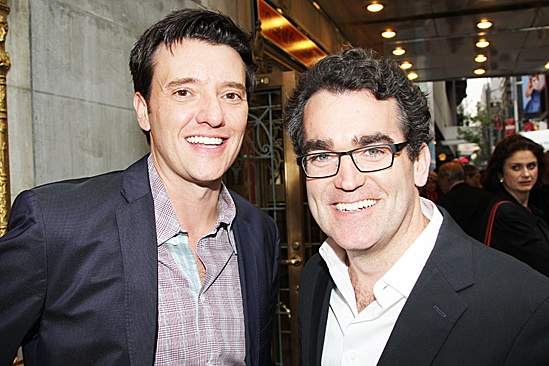 One Man, Two Guvnors opening night  Jason Butler Harner  Brian DArcy James